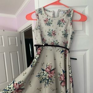 MonnaLisa Girls Floral Dress 6/7 NWOT
